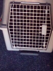 Dog car carrier for sale medium sized dog. In reasonable condition .