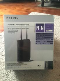 Belkin Double N+ Dual Band Wireless Router with Reduced Interference & High-speed Internet 300 Mbps