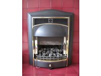 Immaculate cast iron with coals gas fire