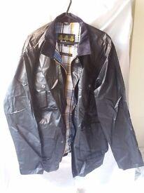 Mens lightweight wax barbour jacket