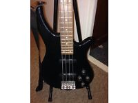 Crafter by Cruiser Bass Guitar with amp, lead, stand and basic instruction DVD