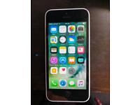 Iphone 5 c white unlocked in vgc all reset and ready to use