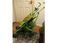Mothercare stroller and matching travel cot