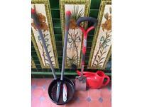 Garden tools including spear and Jackson border spade
