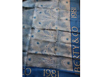 LIBERTY Vintage blue collectable Hera silk scarf