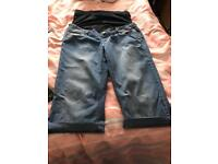 Maternity cropped jeans - size 14