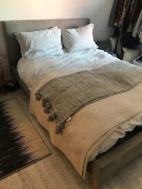 Brand New Upholstered King Size Bedframe in Grey