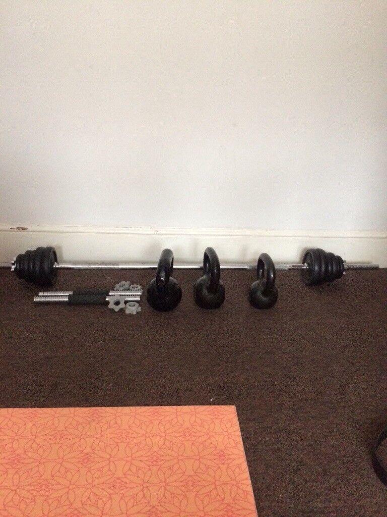 Barbell weight set