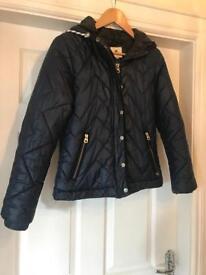 Soul Cal Ladies Navy Coat Jacket - like Hollister, Abercrombie- Small VGC