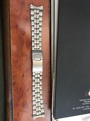20mm Uhrenarmband Jacques Lemans Edelstahl mit runden Ansatzklammern Bi-color