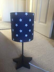 New unboxed Next star lamp
