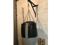 Boxing punch bag and bracket