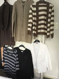 Ladies various tops, blouses & cardigans All size 16 in good condition