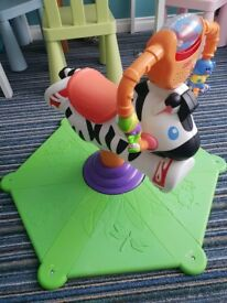 Fisher Price Bounce & Spin Zebra. Hardly used.