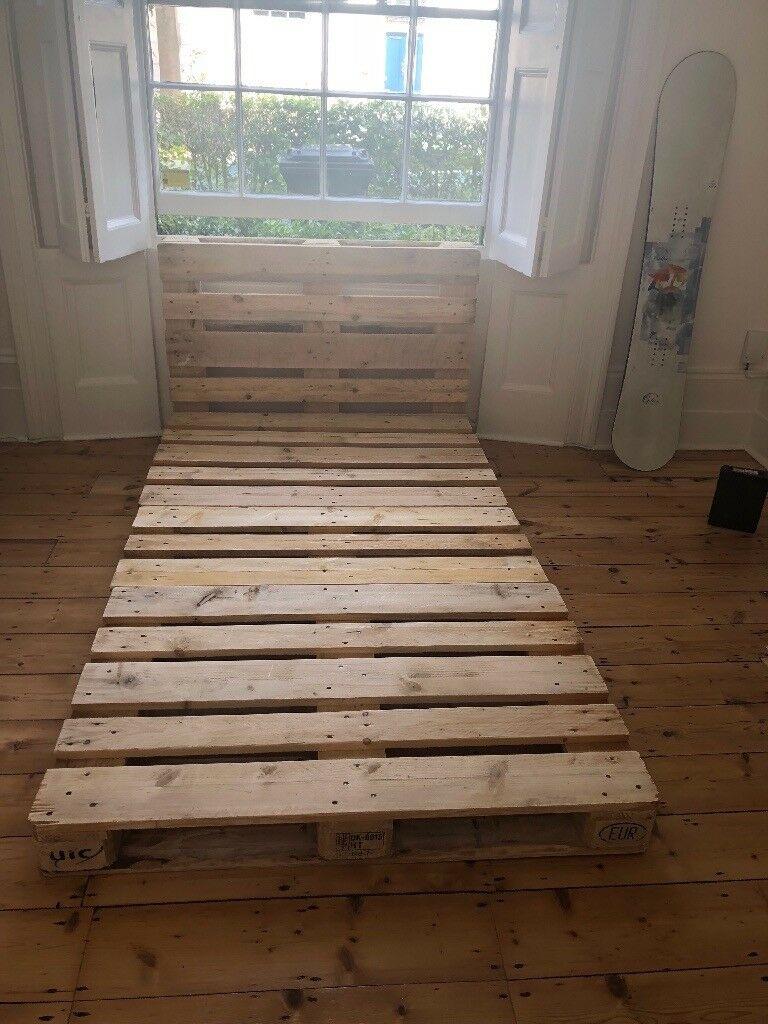 Epl Pinterest Polished Pallet Bed With Headbiard Small