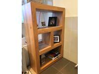 Solid oak bookcase/ shelving