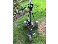Powakaddy golf trolley plus bag, battery and charger