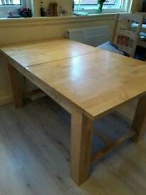 Chunky pine table and 4 chairs