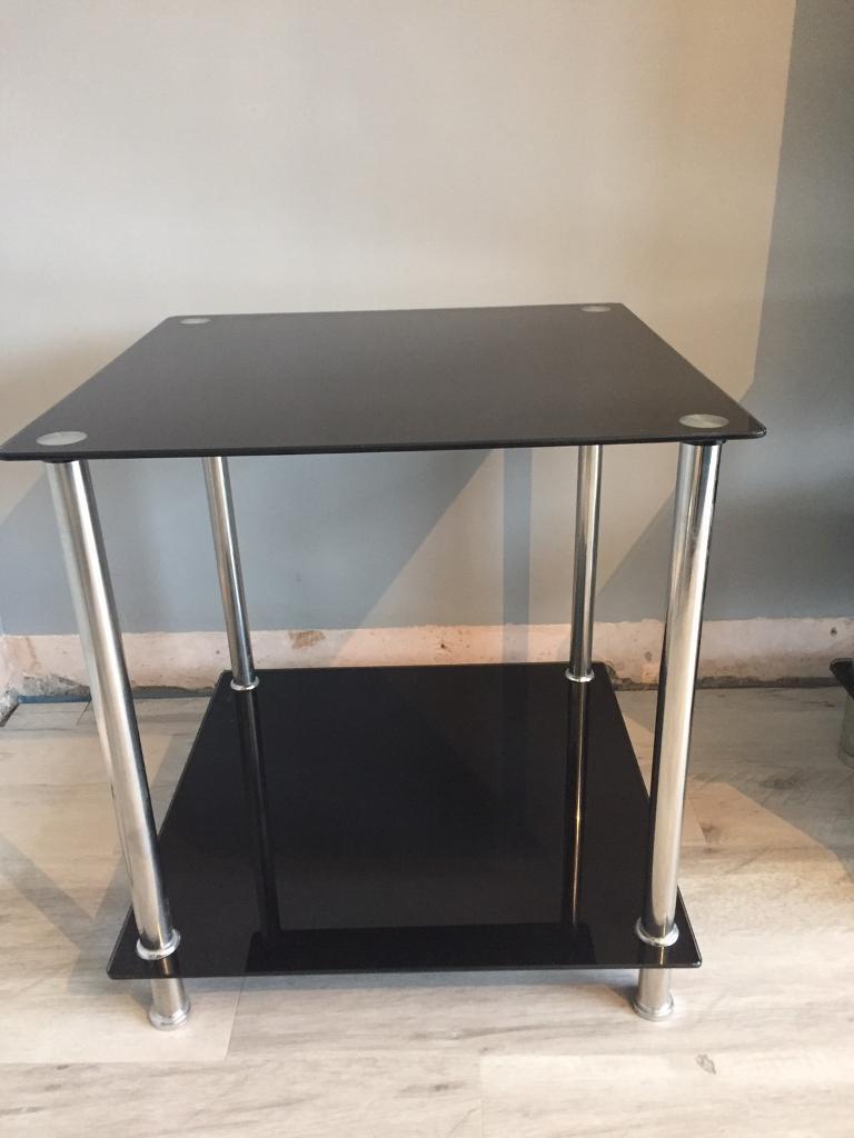 Black and chrome living room furniture