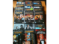 Dvds of james bond x19 (12 are doubles)