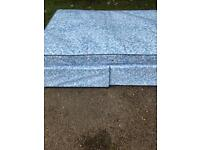Blue Double Bed (Mattress & Base) - Lightly Used