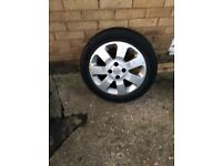 Corsa/combo wheels 2 good tyres 2 need replaced wheels could do with a paint