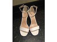 White new look sandle heels