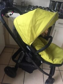 Graco Evo Lime Pushchairs Single Seat Stroller with raincover & footmuff