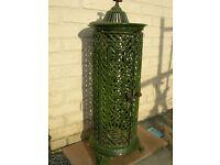 Antique cast iron enamelled stove