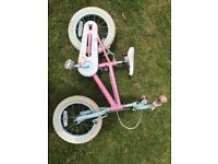 Girls Fairy Pink Bicycle