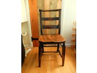 Old and beautiful solid wood vintage chair