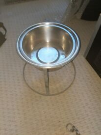 Stainless steel dog bowls with stand