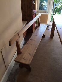 Attractive wooden Bench for Dining Room Table - Totnes, Devon - £100