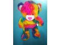 BABW Rainbow Build A Bear Teddy IP1