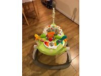 Fisher Price Woodland Friends Spacesaver Jumperoo Like New