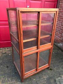 Vintage retail haberdashery display cabinet