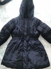 M&S navy girls winter coat
