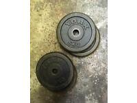 Standard Cast Iron 5kg Weight Disc Plates x 4 - Used