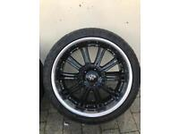 22in wolfs alloys with good matching tyres