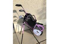 PGA kids golf clubs and bag