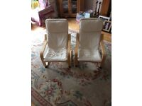 Two children's ikea chairs.