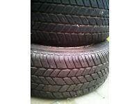 Pair of Toyota MR2 mk1 alloy wheels, 195/60R14