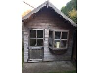 Wooden playhouse with pitched roof 8 x 6ft