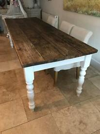 Shabby Chic Farmhouse style table 8ft