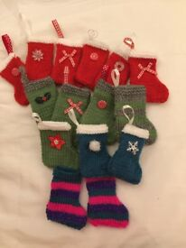 Hand knitted Christmas tree decirations