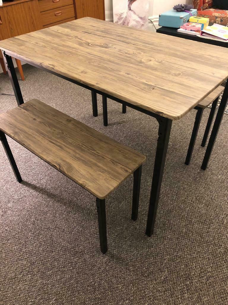 Superb Still Available Table Benches 4 Months Old In Roath Cardiff Gumtree Lamtechconsult Wood Chair Design Ideas Lamtechconsultcom