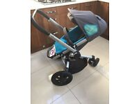 QUINNY BLUE SCRATCH STROLLER IN VERY GOOD CONDITION