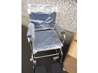 Swap New Days Patterson medical Mobile Commode Wheelchair Style model:512DBAPH