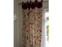 CURTAINS X 4 WITH FLORAL DESIGN