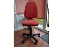 High Back Office Chair with Gas Lift. Fully Adjustable. Red/Black
